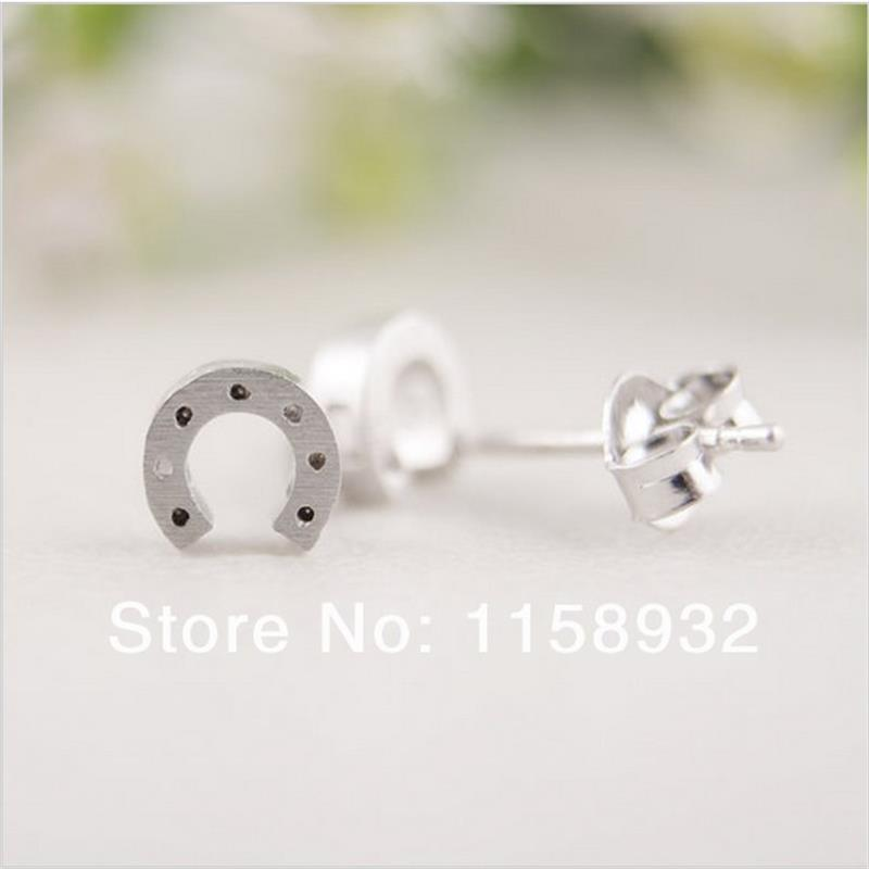 Fashion Gold Silver Horseshoe Stud Earrings In From Jewelry Accessories On Aliexpress Alibaba Group