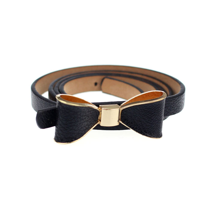 Free Ostrich Fitness Women Candy Leather Women Skinny Butterfly Bow Waist Belt Waistband Woman Belts Dress Cinturon Mujer D1935