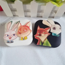 Liusventina самодельная акрил милый любимый кролик Лисёнок Джуди Ник зверополис контактные линзы Чехол для очков для цветных линз
