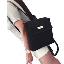 2018 новые женские парусиновые рюкзаки для девочек-подростков школьные сумки однотонный Рюкзак Женская дорожная сумка Mochila Рюкзак Школьные принадлежности