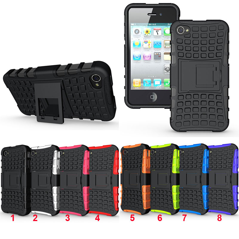 Rugged Spider <font><b>Armor</b></font> Heavy Duty Hybrid TPU Silicon Stand Impact Cover <font><b>For</b></font> <font><b>iPhone</b></font> 4/4s/5/5s/5C/SE/6/6s Plus <font><b>ShockProof</b></font> Phone <font><b>Cases</b></font> image