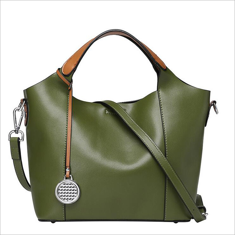 2016 new listing  women solid genuine leather fashion  bag  messenger&crossbody bag,  factory direct sale