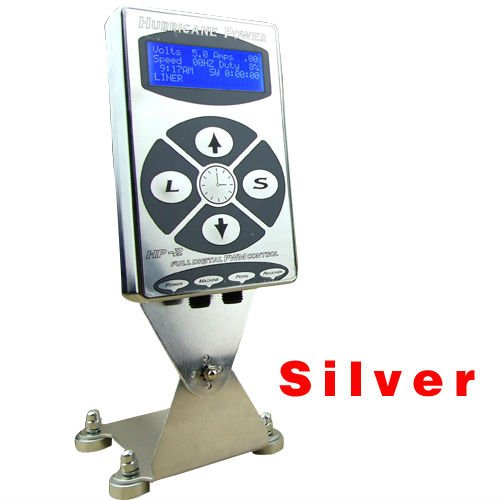 Hot Sale Pro 1PC Silver HP2 Hurricane Digital Dual LCD Display For Tattoo Power Supply Free Shipping 2017 hot sale high quality lcd display black tattoo power supply for permanent makeup tattoo kit free ship by epacket