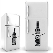 Anggur O  JAM YOYOYU ini Botol Anggur botol bir stiker Freezer kulkas Art  Desain Dapur 251e85f7b6