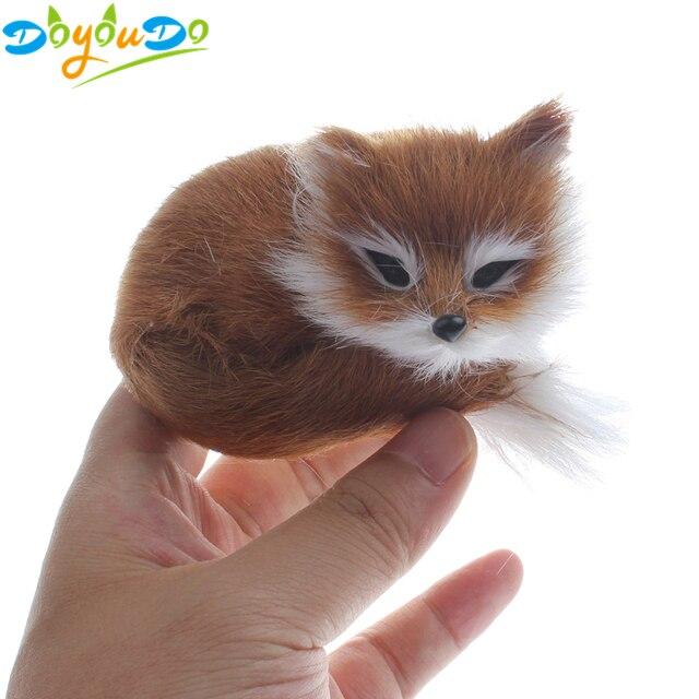 1 Pc Simulação brown polietileno & peles de raposa raposa brinquedo de pelúcia modelo coleção toy presente de aniversário decoração de casa