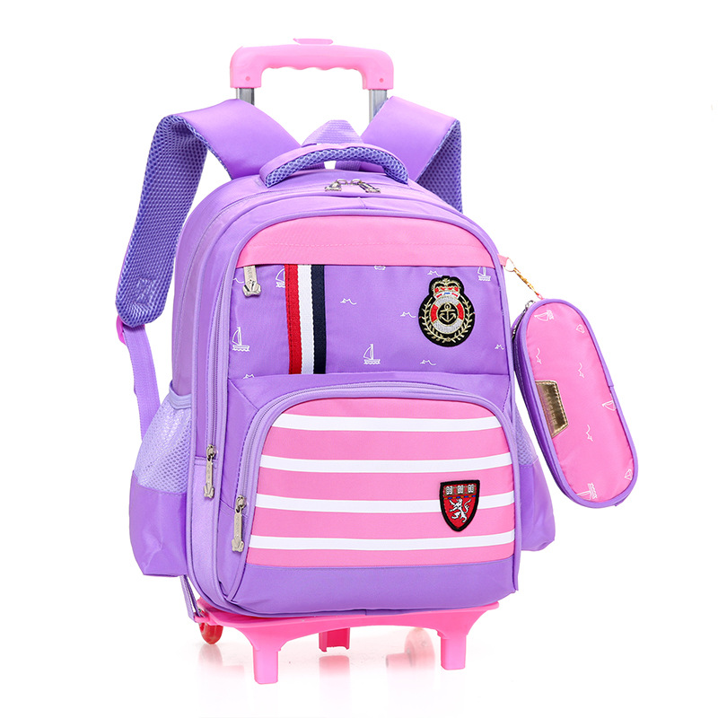 Children Trolley school Backpack School Bags For boys Grils Wheeled Bag kids Removable school Backpacks for teenagers Mochila цена 2017