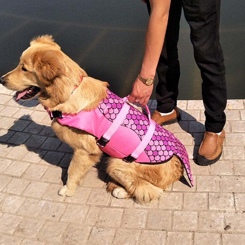 1 Pc S/M/L 2 Vestito di Nuoto Pet giubbotto di Salvataggio Del Cane di Stile Del Cane di Nuoto Della Maglia Forniture Per Animali Da Compagnia accessori del cane di Acqua Corsa Confortevole