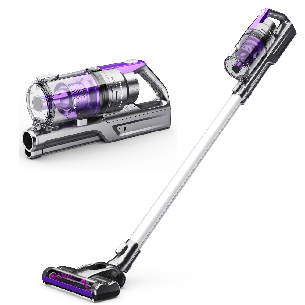 Wireless Vacuum Cleaner Stick Handheld Vacuum Rechargeable Low Noise Vacuum Cleaner Purple Color Car And Home Use Cleaner new vacuum cleaner a380 d6601 with lithium ion battery low noise wireless robot vacuum cleaner super cyclone vacuum cleaner