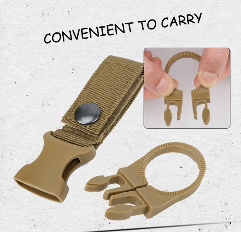 Outdoor military Nylon Webbing Buckle Hook Water Bottle Holder Clip EDC Climb Carabiner Belt Backpack Hanger Camp (4)