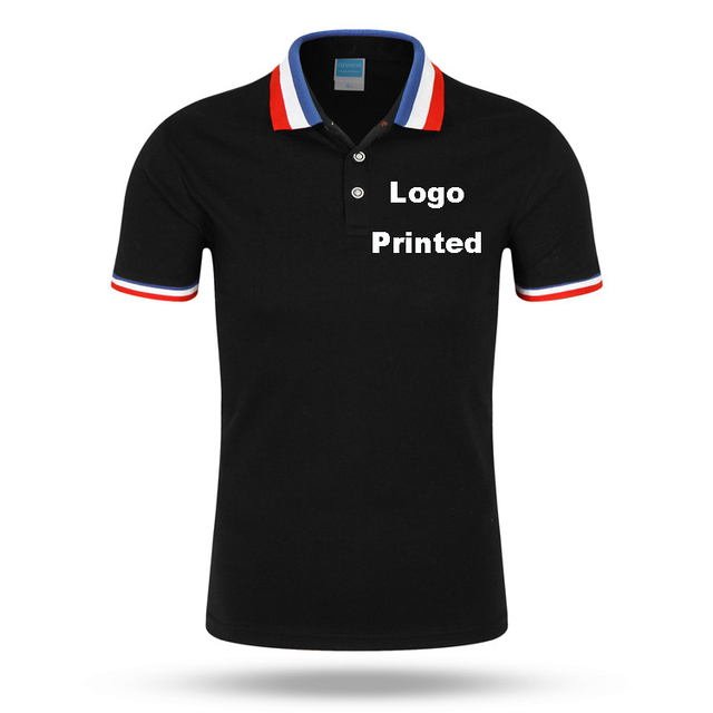 2018 New Brand Clothing Men Polo Shirt Custom Print Polo Tricolor