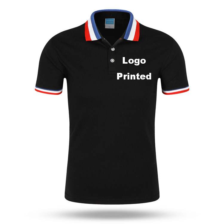 2018 New Brand Clothing Men   POLO   Shirt Custom Print   Polo   Tricolor Collar   Polo   Men Summer breathable Tops&Tees plus size 2XL 3XL