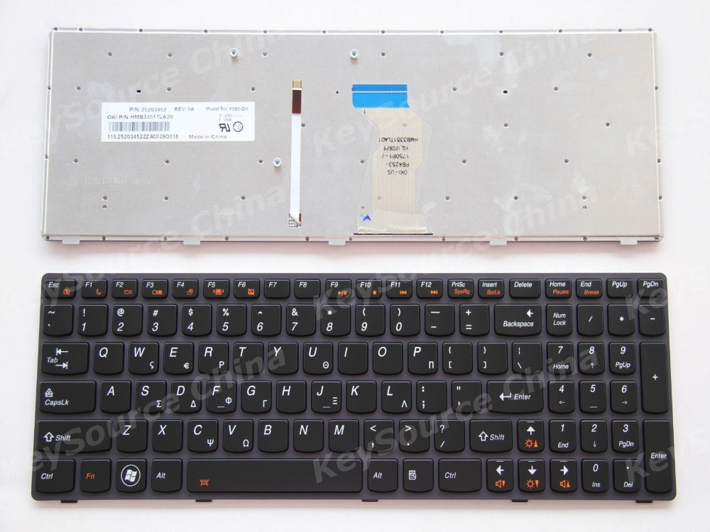 New notebook Laptop keyboard for Lenovo IdeaPad Y580 GREEK Frame laptop keyboard for acer silver without frame bulgaria bu v 121646ck2 bg aezqs100110