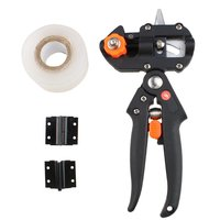 Black Professional Nursery Grafting Tool Pruner 2 Extra Blades Free Grafting Tape