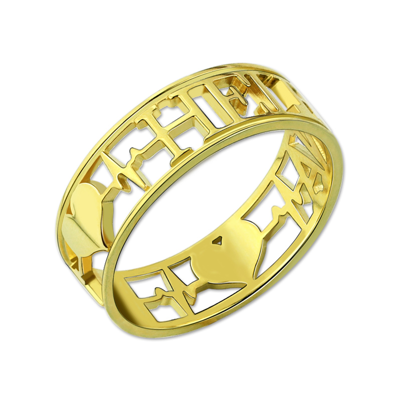 aliexpress buy wholesale heartbeat ring gold color