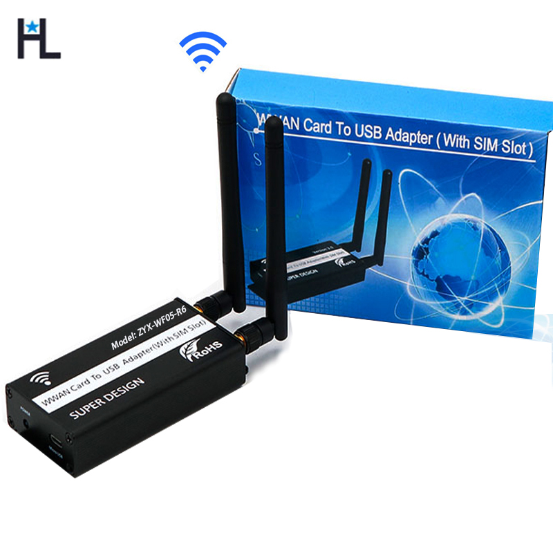NGFF M.2 Key B Module to micro USB Adapter With SIM card Slot for WWAN/LTE/4G ModuleNGFF M.2 Key B Module to micro USB Adapter With SIM card Slot for WWAN/LTE/4G Module