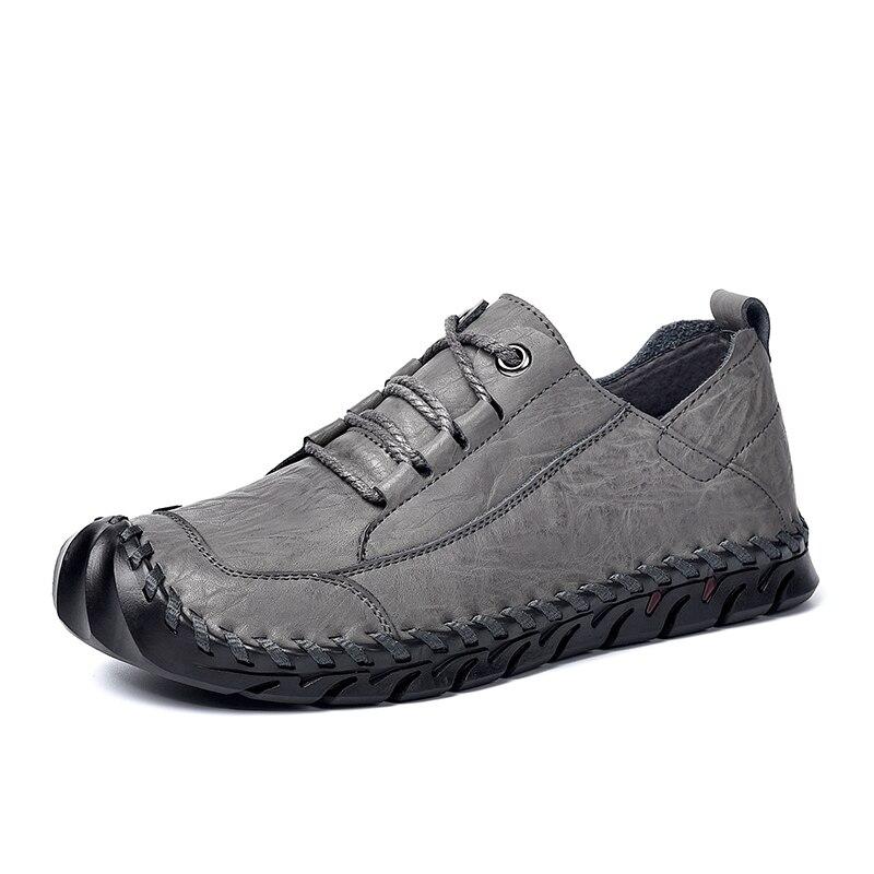 Classique hommes chaussures de course en plein air en cuir de vachette véritable hommes en caoutchouc bottes baskets mâle Jogging mâle baskets hommes chaussures