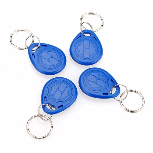 New Arrival 5pcs 125kHz RFID Proximity ID Token Tag Key Keyfobs Keychain Chain Plastic  For Access System Free Shipping