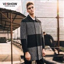 VIISHOW Бренд Зима Гороха Пальто Мужчины Куртка Длинные Пальто Мужчины Пальто Зимняя Куртка Длинный Жакет Пальто для Мужчин FC10153(China (Mainland))
