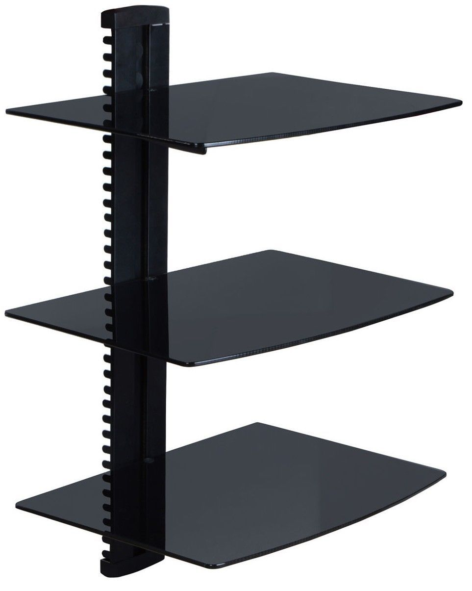 Tv Mount With Shelf For Cable Box Wall Mounted Shelves