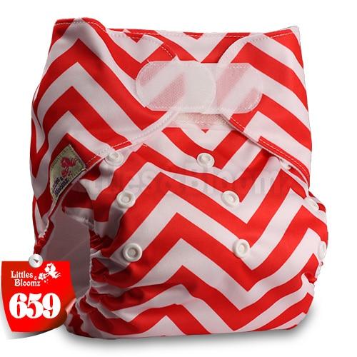[Littles&Bloomz] Один размер многоразовые тканевые подгузники Моющиеся Водонепроницаемые Детские карманные подгузники стандартная застежка на липучке - Цвет: 659