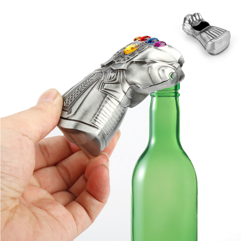 Thanos Keychain 3D Infinity Glove Gauntlet Beer Bottle Opener Keyring Marvel Avengers 4 Key Chain for Men Jewelry Ornaments