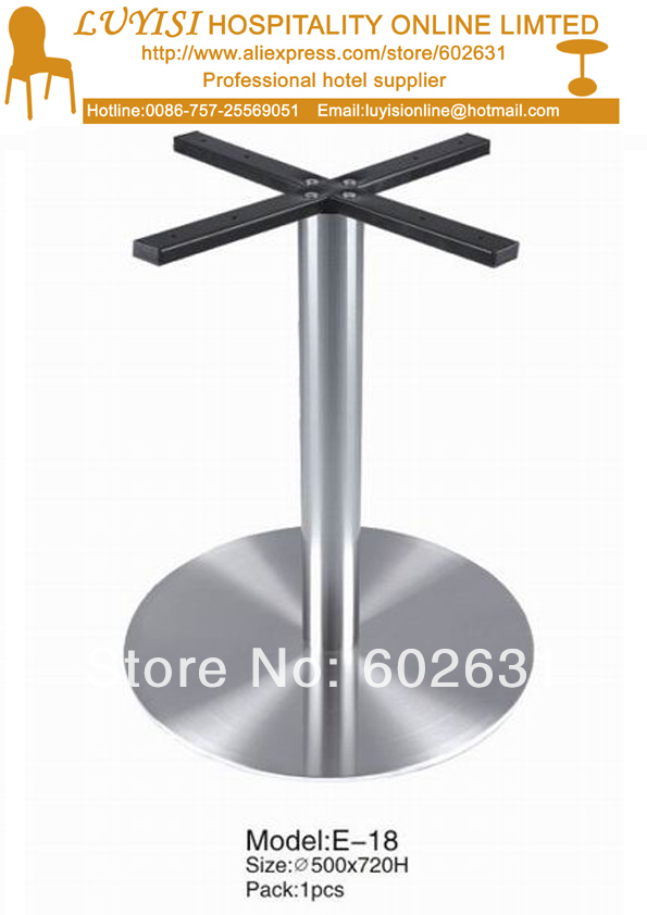 Купить с кэшбэком quality polished Stainless steel  bar table base