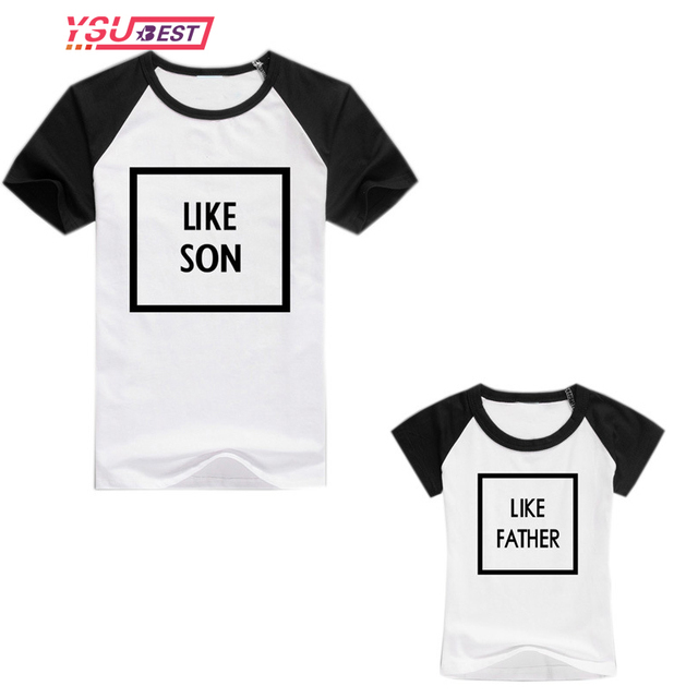 b1748e33 Like Father Like Son Clothes Family Matching Clothes Mother Son Outfits  Short Sleeve Shirt Father and Son Clothes Family T shirt