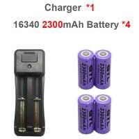 4*3.7 В 2300 мАч 18650 Батарея литий-ионный Перезаряжаемые высокое Ёмкость аккумулятор + Универсальный Зарядное устройство для 18650 14500 16340 Зарядное ...