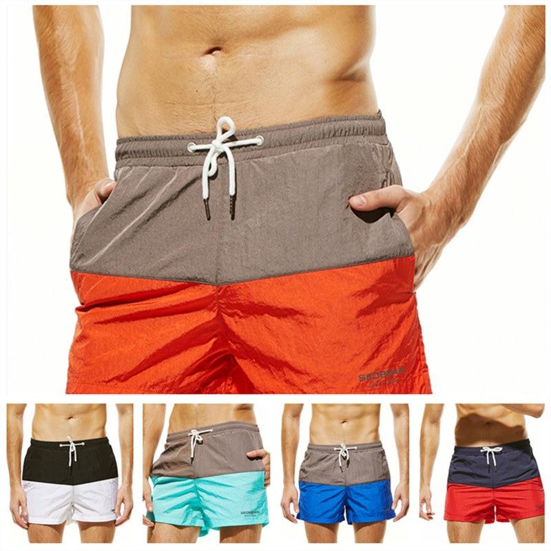 Men Swimwear Brazilian Summer Pattern Men's   Board     Shorts   13in Fixed Waist Swim Trunk Holiday Beach Fast Dry Men Swimming   Shorts