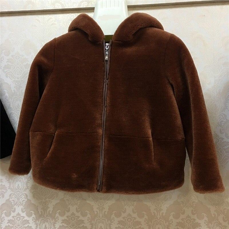 JKP 2018 Детская куртка с капюшоном из овечьей шерсти 100% импортная шерстяная куртка Экологически чистая теплая куртка ZPC 225 - 3