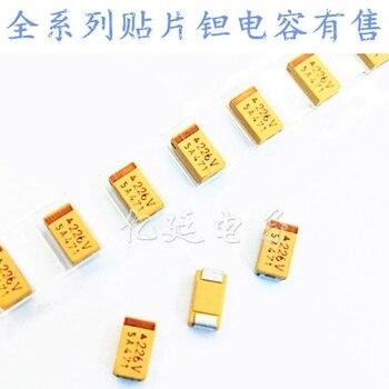 Chip de condensadores tántalo 156T 15UF 50V tipo E 7343H 2917 10% amarillo polar capacitancia biliar