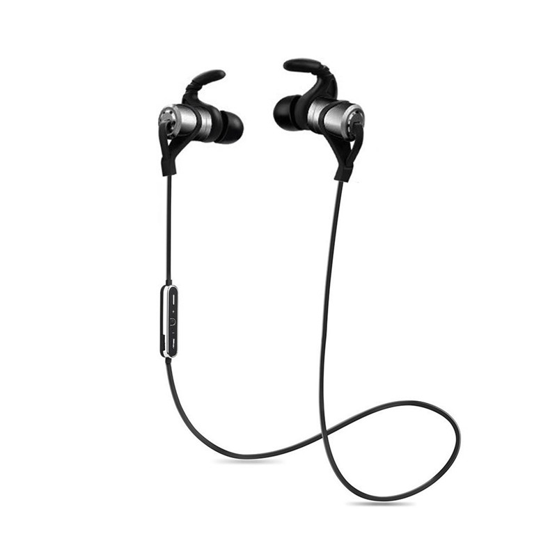 ihens5 D1 Sports Wireless Bluetooth Earphone Anti-sweat Metal Magnetic Headphone Earbuds with Mic In-Ear for PC Phones iPhone 8