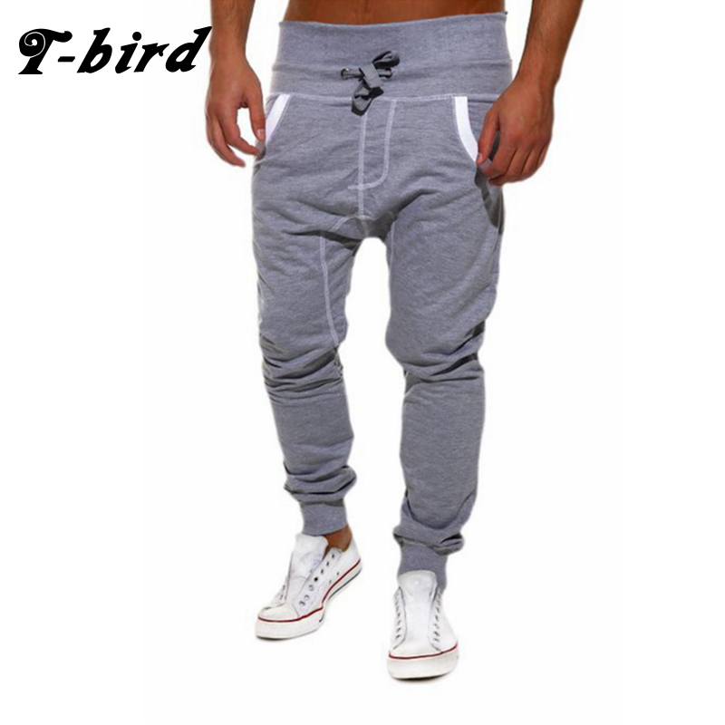 T-Bird New Fashion 2017 Joggers Men Brand Solid Color Sweatpants Male Compression Pants Casual Tactical Pants Mens Calabasas XXL