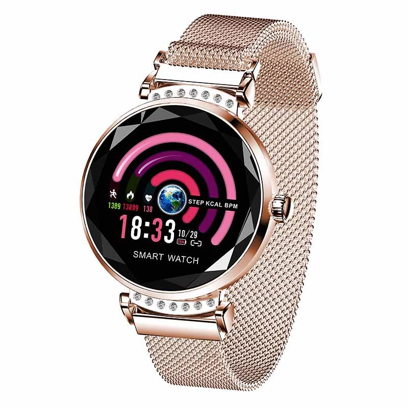 Smart Horloge H2 Mode Vrouwen Mooie Armband Hartslagmeter Slaap Monitoring Smartwatch verbinding IOS Android Nieuwste Collectie