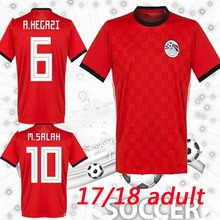 d4da5a272 2018 Egypt Jersey soccer M. SALAH world Home Red 17 18 KAHRABA national team  men