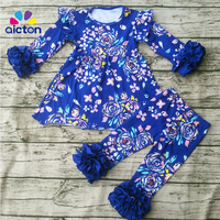2017 Spring Boutique Outfits Girl Clothing Set Easter Kids Outfit Baby Clothes Colorful Remake Outfit