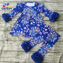 2017 primavera boutique outfits menina conjunto de roupas páscoa crianças roupa do bebê colorido remake outfit