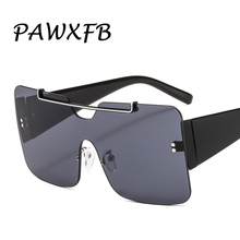 PAWXFB 2019 Square Oversized Sunglasses Men Sun Glasses Women Shades