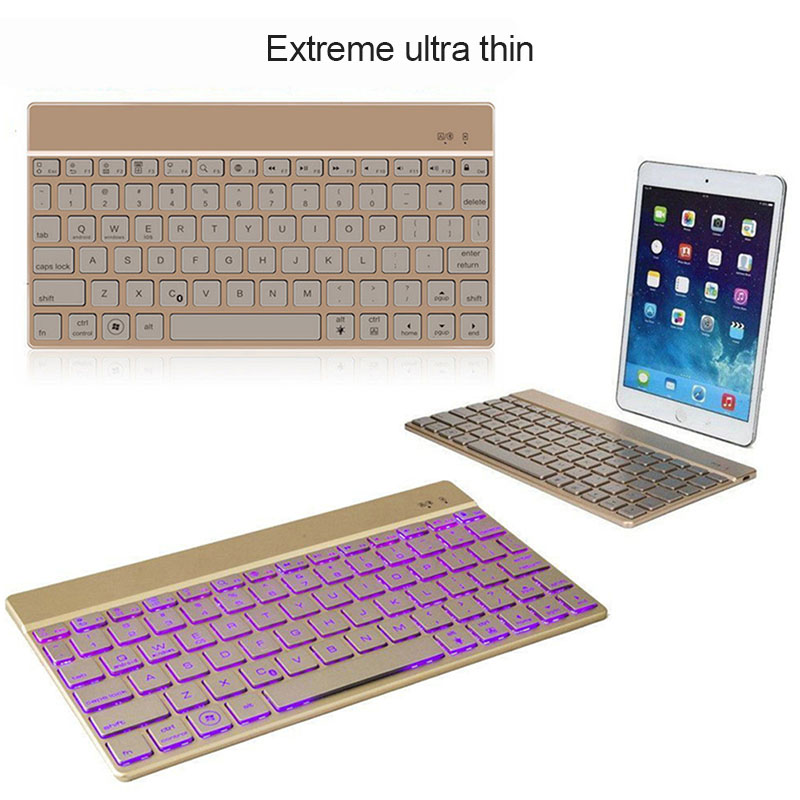Metal Charging Slim Wireless Keyboard Aluminum Alloy Materials for Laptop PC ND998