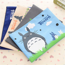 330*235mm/New Japan Cartoon Totoro cat series Canvas File bag/Cosmetic Bag/file product office supplier /4styles W2.12