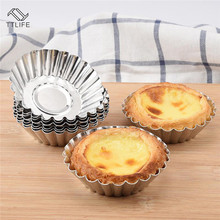 TTLIFE 50pcs/set Egg Tart Aluminum Cupcake Cake Cookie Mold Tin Baking Tool Bakware Cups Mold Cookie Pudding Mould Baking Tools 26 english alphabet cookie mold set baking tools