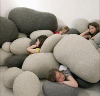 Büyük Yaşam Taşlar Kaya Yastık yaratıcı komik peluş oyuncaklar kaya yastık