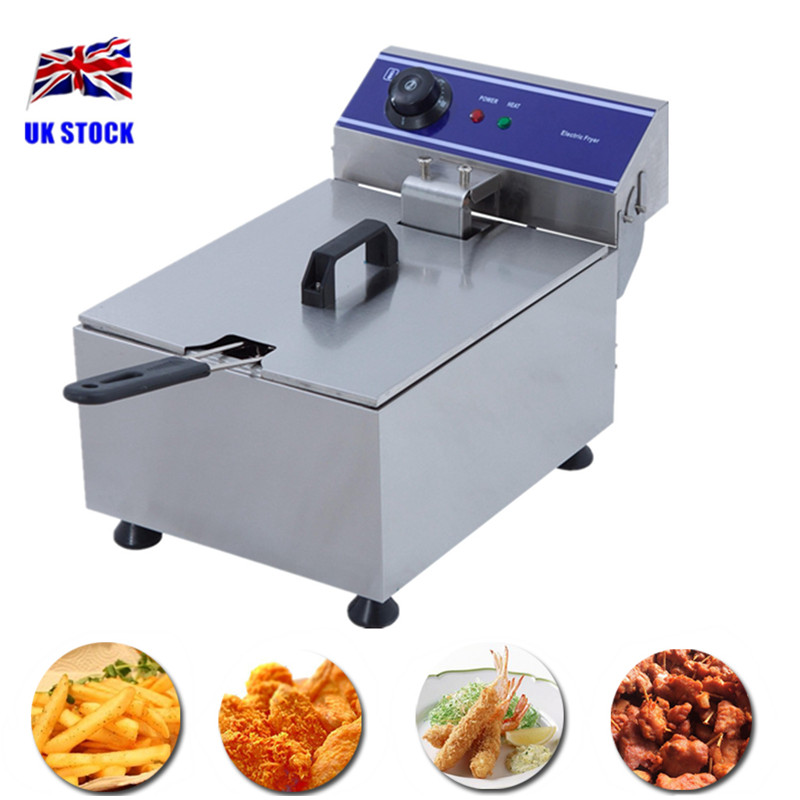 купить 1Piece Free Shipping 10L Electric Deep Fryer Stainless Steel Commercial Fryer To Fry Chicken Wings French Fries Chicken Legs etc недорого