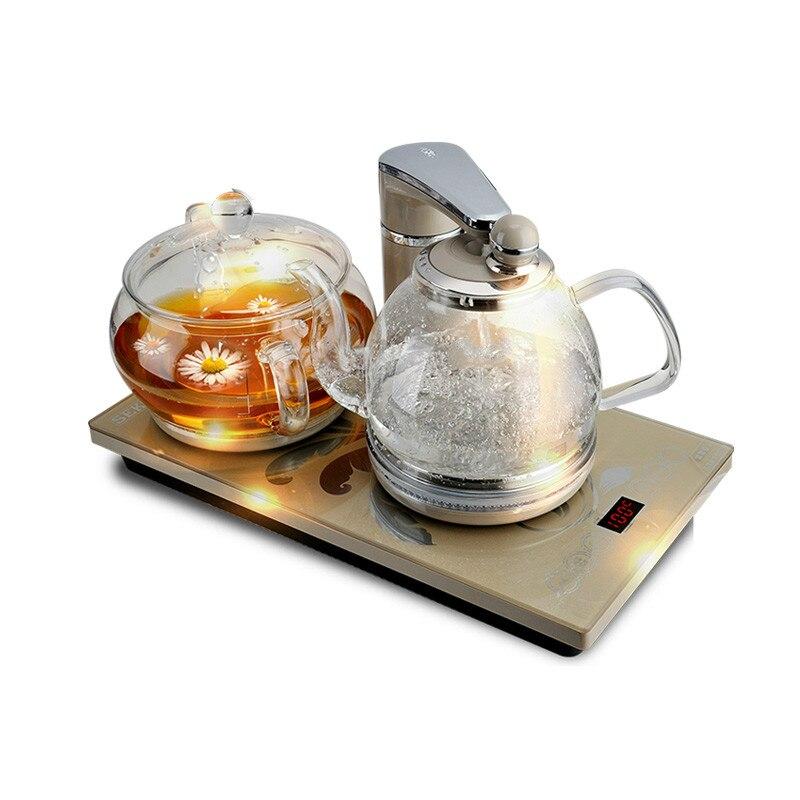 Интеллектуальная термостатическая электрическая чайник стеклянный пузырьковый чайный набор для подогрева