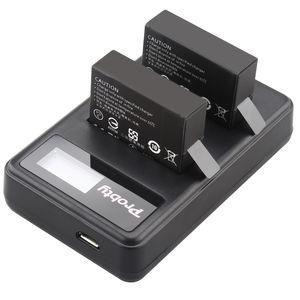 Image 5 - מקורי probty עבור GoPro Hero4 גיבור 4 סוללה + LCD כפולה לgo pro AHDBT 401 HERO4 שחור כסף פעולה מצלמה אבזר