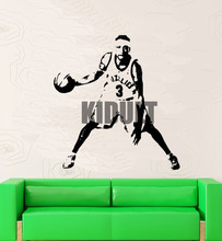 Allen Iverson Lakers Basketball Star Wall Stickers Vinyl Wall Decals Home Decor Club Bedroom Studio Backdrop Videos