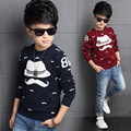Boys Sweater Brand Kids Cartoon Hat Knit Pullover Classic Style Children's Winter Cardigans Sweater Clothing Boys Jackets