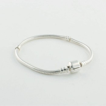 925 Sterling Silver Snake Bracelets Chain With Clasp 17cm 23cm Compatible With European Style Charm Bracelet
