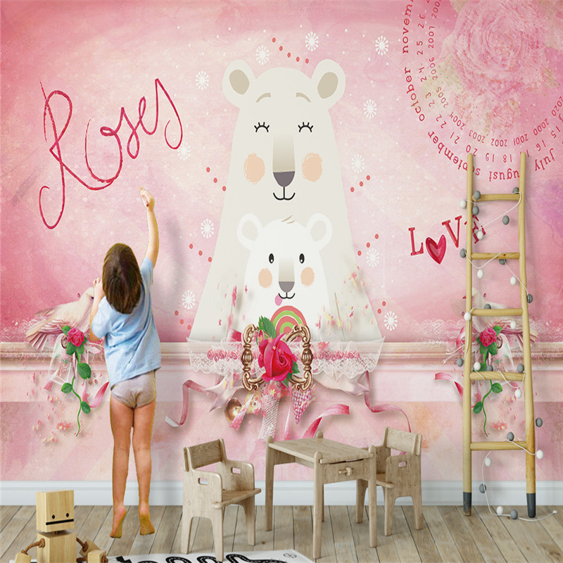Modern Custom Photo Wallpapers Stereoscopic 3D Murals Cartoon Flowers Wall Papersfor Kids Room Home Decor Living Room Bedroom custom photo wallpaper 3d stereoscopic flowers living room sofa backdrop wall murals wall paper modern home decor room landscape page 4