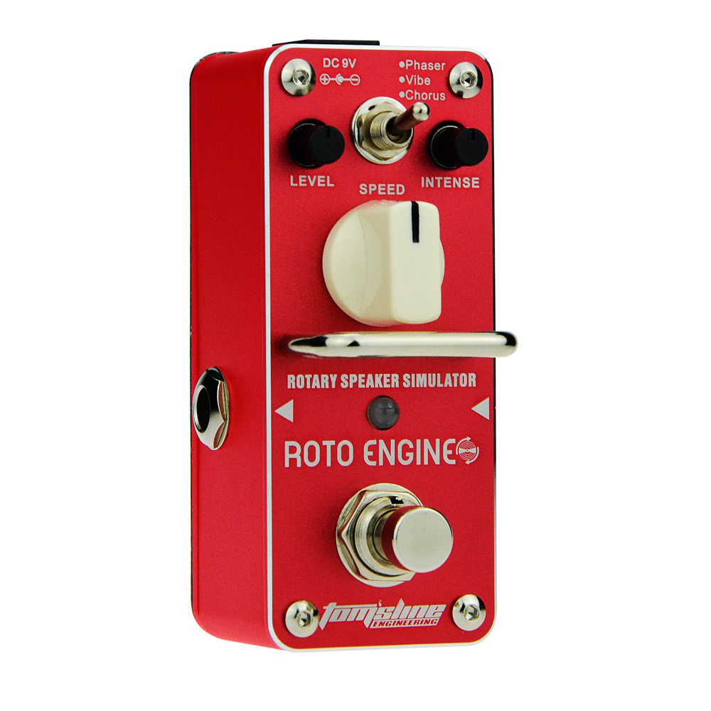 Aroma Roto Engine Rotary Speaker Simulator Guitar Effect Pedal ARE-3 Phaser Vibe Chorus Mode True Bypass aroma are 3 roto engine guitar effect pedal mini digital pedals effects ce rohs with true bypass
